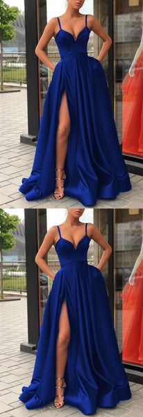 Royal Blue Prom Dress, Evening Dress, Dance Dresses, Graduation School Party Gown   cg10625
