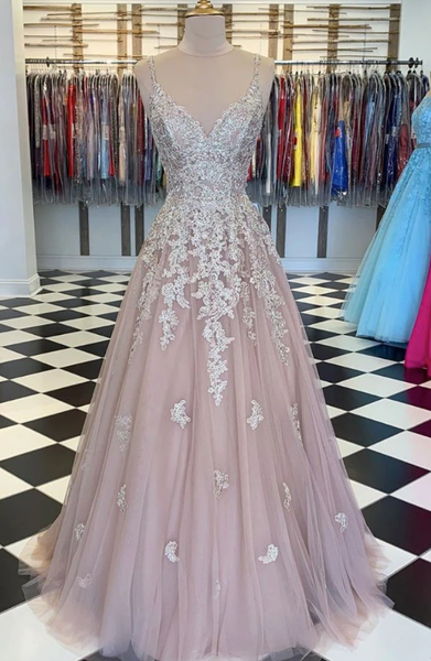 UNIQUE TULLE LACE LONG PROM DRESS LACE TULLE EVENING DRESS   cg10650