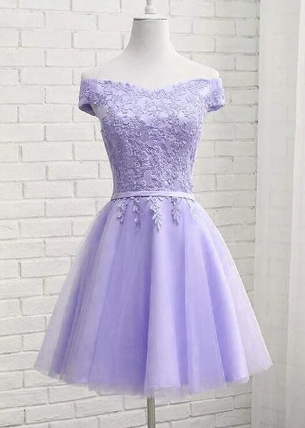 Charming Lavender Sweetheart Knee Length Homecomin Dress   cg10717