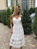 White Lace Homecoming Dress   cg10778