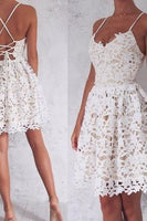 Ivory Homecoming Dress, Sleeveless cute homecoming Dresses cg107