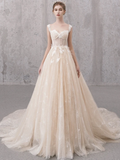 High quality A-line tulle long ball gown dress prom dress evening dress   cg10815