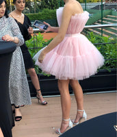 PINK TULLE SHORT DRESS HOMECOMING DRESS   cg10849