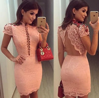 pink homecoming dress with cap sleeve   cg10890
