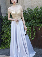 Beautiful Off Shoulder A-line Floor Length Prom Dress    cg10975