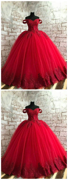 Red Prom Dress, Gothic Prom Dress, Red Lace Prom Dress   cg11040