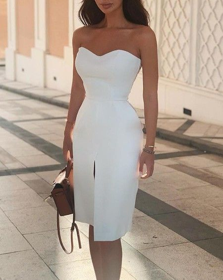 Women's Clothing, Dresses, Bodycon Dresses homecoming dress, modern white graduation dress   cg11096
