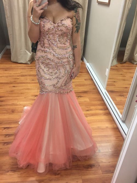 Charming Prom Dress, Sweetheart Prom Dress,Mermaid Prom Dress,Tulle Prom Dress   cg11142