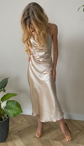 cheap champagne prom dresses, simple wedding party dresses    cg11158
