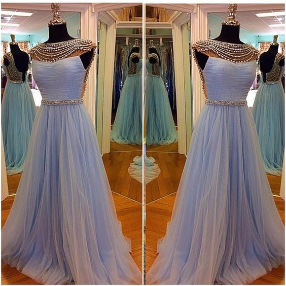 Real Made Tulle Prom Dresses,Long Prom Dresses   cg11185