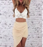 Two piece short homecoming dress   cg11233