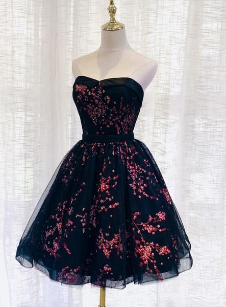 Lovely Black Sweetheart Short Homecoming Dress   cg11256