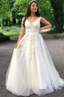 ivory A-line tulle long formal dress prom dress cheap price   cg11362