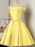 A Line Satin Semi Formal Gown Cocktail homecoming Dress   cg11392