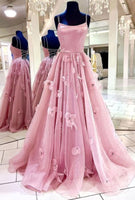 Spark Queen Pink Tulle Long Prom Dress Pink Tulle Formal Dress   cg11579