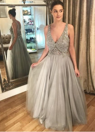 Popular Sexy Long Prom Dress With Beading Semi Formal Dresses Wedding Party Dress cg1167