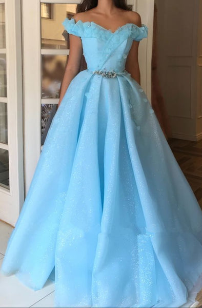 Sparkle Sequins Off The Shoulder Prom Dress | Charming Sweetheart Sleeveless Beading Long Prom Dress  cg11735