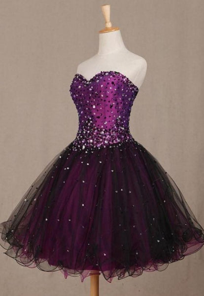 Sweetheart Homecoming Dresses, Purple Short Homecoming Dresses cg1181