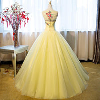 Gorgeous Yellow Tulle Ball Gown Sweet 16 Dress, Yellow Quinceanera Dress prom dress formal gown   cg11895
