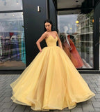 Yellow Ball Gown Prom Dress with Puffy Skirt cg1203