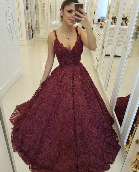 Party Dress A-line Prom Dress Evening Dress Lace Prom Dress Formal Dress   cg12042