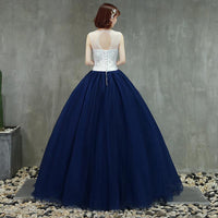 Beautiful Navy Blue Ball Gown Sweet 16 Dresses, Blue Quinceanera prom Dress   cg12089