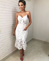 Short White Prom Dress with Lace cg1211