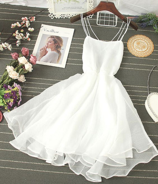 Cute Tulle Backless Short Dress Mini Dress Homecoming Dress   cg12217