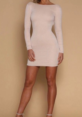 Sexy Creamy White Sequins Homecoming Dress,Tight Long Sleeves Mini Homecoming Party Dress,Custom Made Cocktail Dress cg1223