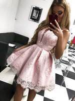 Pink homecoming dress , fashion short homecoming dress cg1230