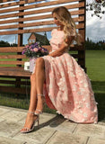 Cute pink tulle short prom dress, sparkly dress cg1234