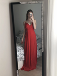 Red 2020 Prom Dresses, Long Prom Dress, Simple prom dress     cg12488