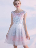 Morden Cute homecoming Dresses, Cute A Line 3D Flower Short homecoming Dress, Homecoming Dress cg1313