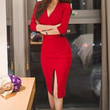 V-Neck Long Sleeves , Red Short Homecoming Dress cg1355