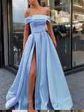 silver evening gowns,long prom dresses,sexy off shoulder dress cg1408