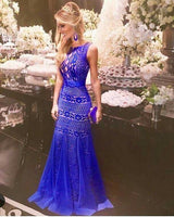 royal blue Long Prom Dress cg1409
