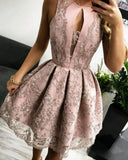 A Line Homecoming Dress With Lace  cg1445