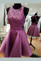Charming Open Back Appliques Dress, Short Homecoming Dress, Sexy Party Dress cg144