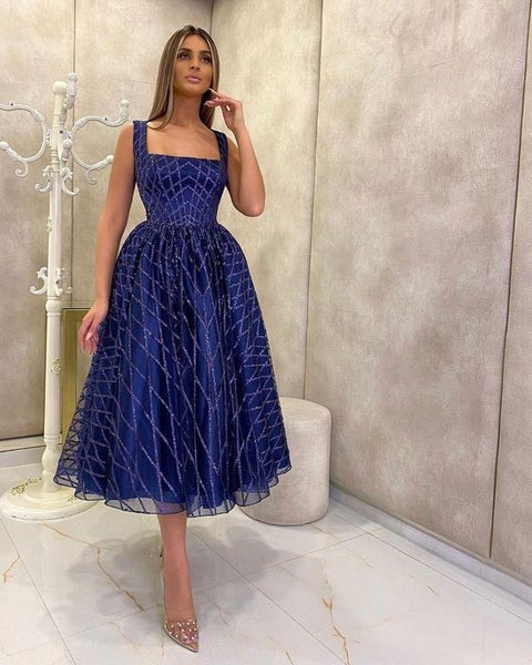2021 Charming blue Prom Evening Dresses ball gown    cg14513