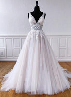 Custom made v neck lace long prom dress evening dress   cg14523