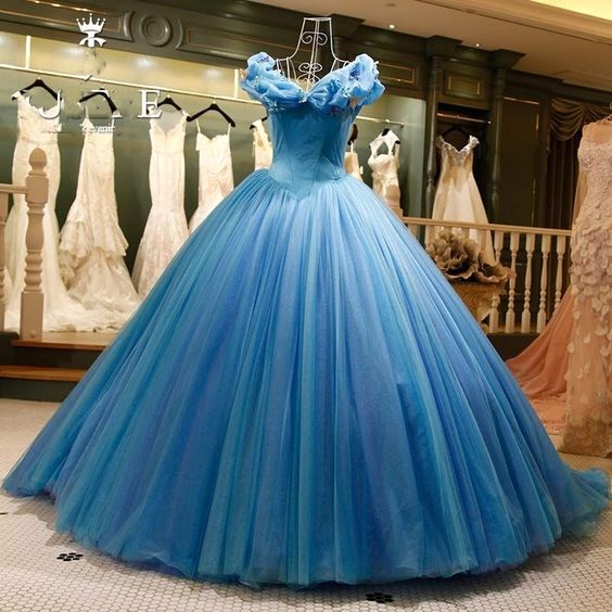 Modest Quinceanera Dress,Blue Ball Gown,A Line Prom Dress,Fashion Prom Dress   cg14545