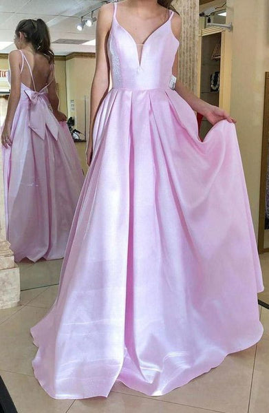 Simple Pretty Custom Made Spaghetti Straps Bowknot Long Evening Dress Prom Dress    cg14612