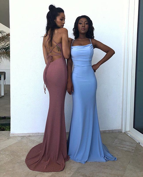 Sexy Sheath Halter Blue Long Prom/Evening Party Dress   cg14800