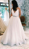 New Fashion White V Neck A-line Prom Dresses,Cheap Prom Dress,Prom Dresses For Teens   cg14943