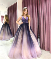 Ombre Prom dress, Long Prom Dress, Long evening dress,prom dresses   cg14965
