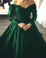 emerald green prom dresses off the shoulder ball gown   cg14983