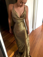 Mermaid Prom Dress, Open Back Prom Dress    cg15096