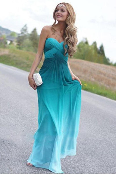 Long Evening Dresses, Green Prom Dress, Sexy Prom Dress, Chiffon Prom Dress  cg1516