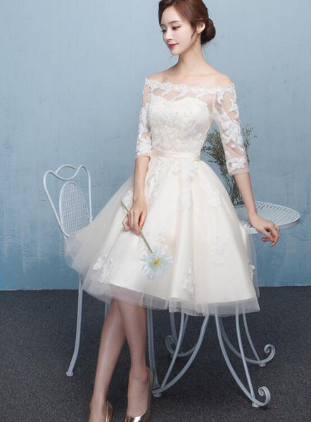 Off Shoulder Party Dress With Lace Homecoming Dress    cg15212