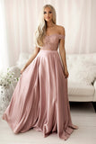 PINK LACE LONG PROM DRESS TWO PIECES EVENING DRESS   cg15253